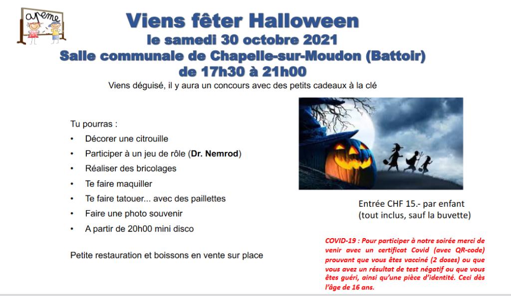 APEME : Fête de Halloween samedi 30 octobre 2021